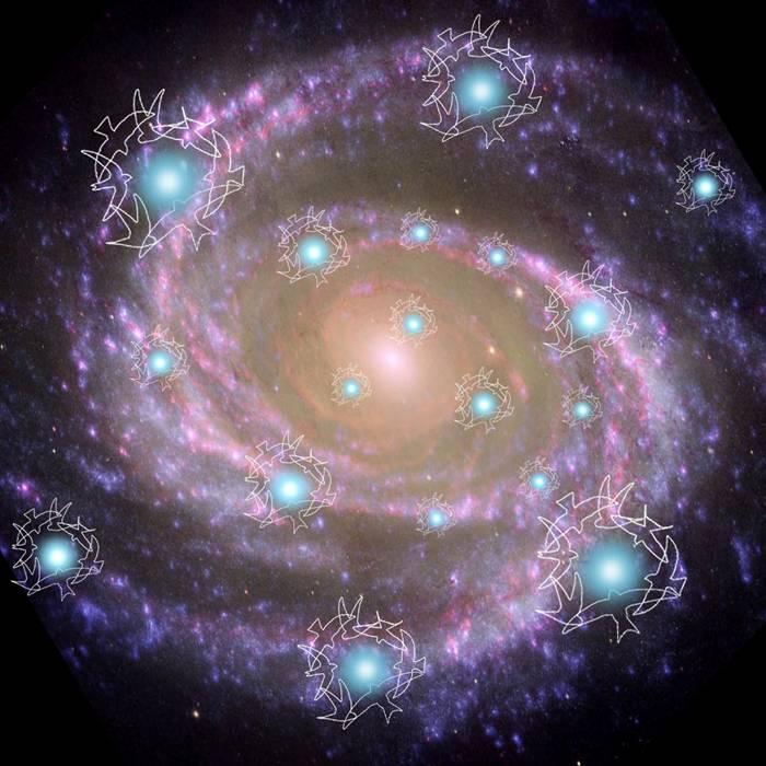 Сейчас видим эту галактику сверху