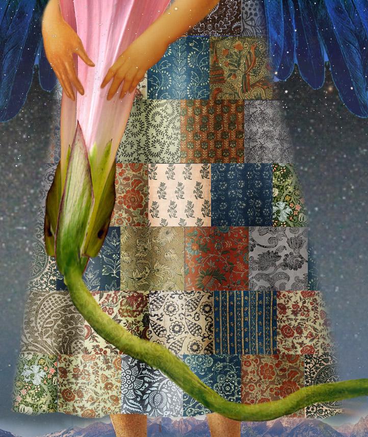 лоскутное платье с цветочным принтом   Proenza Schouler